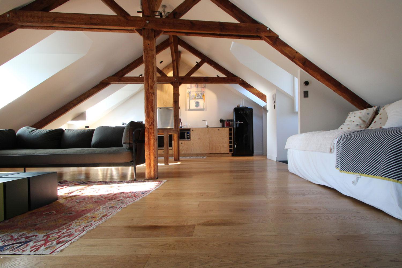 Salon de notre location d'appartement à Vannes.