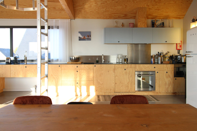 Cuisine équipée de notre location de Sainte-Barbe.