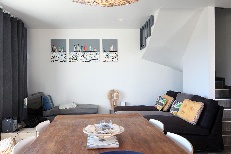 Salle à manger et salon de notre maison à louer sur Sainte-Barbe.